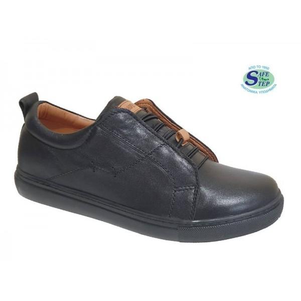 Γυναικεία Παπούτσια SAFE STEP 18401 Μαύρα Δερμάτινα Μοκασίνια