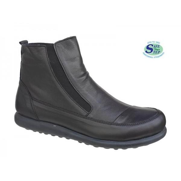 Γυναικεία Παπούτσια SAFE STEP 5509 Μαύρα Δερμάτινα Μποτάκια