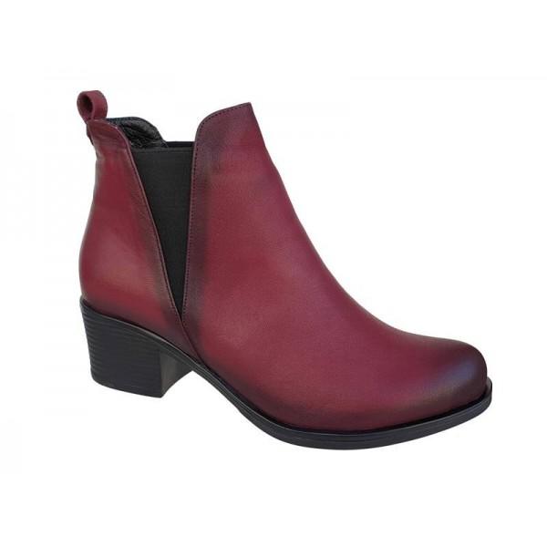 Γυναικεία παπούτσια   Safe Step 60370 Μπορντό   Μποτάκια