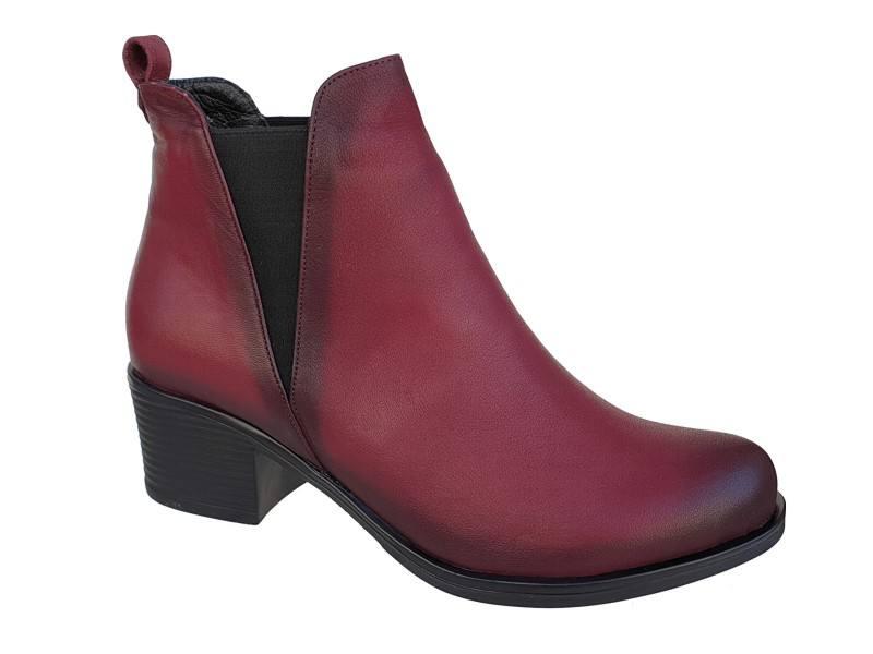 Γυναικεία παπούτσια | Safe Step 60370 Μπορντό | Μποτάκια