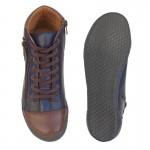 Δερμάτινα Παπούτσια SAFE STEP 72160 Μπλε Spor Γυναικεία Μποτάκια
