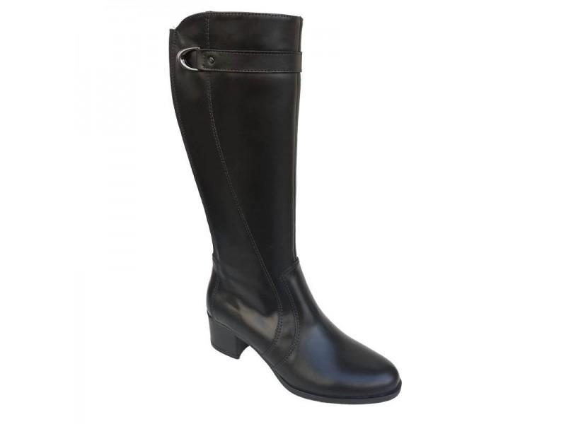 Δερμάτινα Παπούτσια SOFTIES 7992 Μαύρες Γυναικείες Μπότες