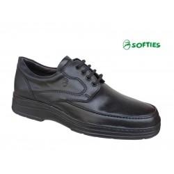 Ανδρικά Παπούτσια SOFTIES 3074 Μαύρο Σκαρπίνια | Δετά