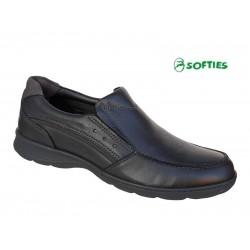 SOFTIES 6929 Μαύρο δέρμα