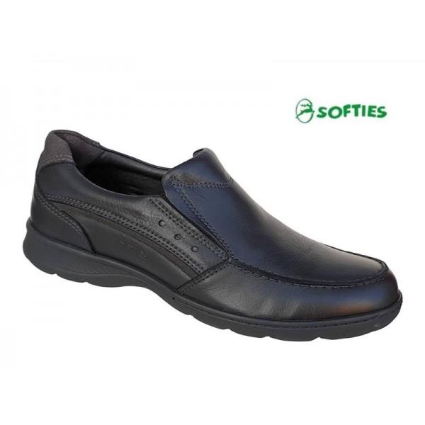 Ανδρικά Παπούτσια SOFTIES 6929 Μαύρα μοκασίνια