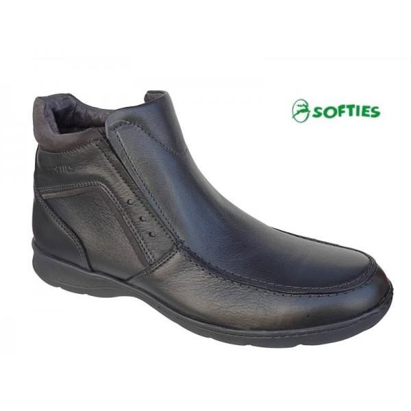 Ανδρικά Παπούτσια SOFTIES 6930 Μαύρα Σπορ Ανδρικά Μποτάκια