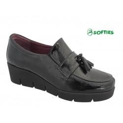 Γυναικεία Παπούτσια SOFTIES 7103 Μαύρα Μοκασίνια