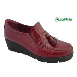 Γυναικεία Παπούτσια SOFTIES 7103 Μπορντό Σπορ Μοκασίνια