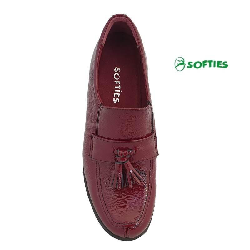 56649a9170f ... Casual Γυναικεία Παπούτσια SOFTIES 7103 Μπορντό Σπορ Μοκασίνια ...