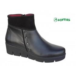 SOFTIES 7971 Μαύρο δέρμα
