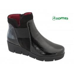 SOFTIES 7972 Μαύρο δέρμα