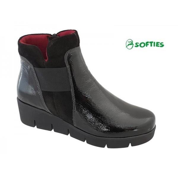 Γυναικεία Παπούτσια SOFTIES 7972 Μαύρα Casual Μποτάκια