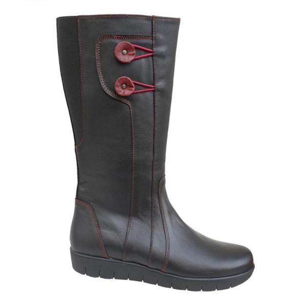 Δερμάτινα Παπούτσια SOFTIES 7983 Μαύρες Γυναικείες Μπότες