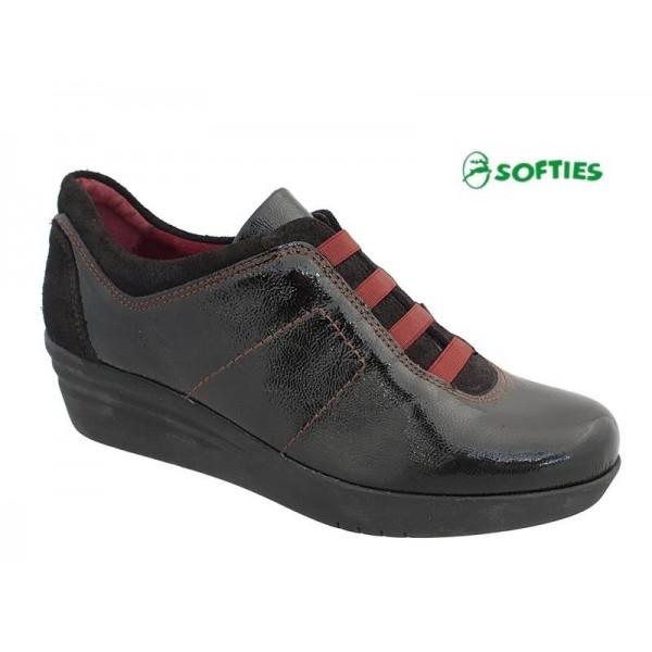 Γυναικεία Παπούτσια SOFTIES 7985 Μαύρα Σπορ Μοκασίνια