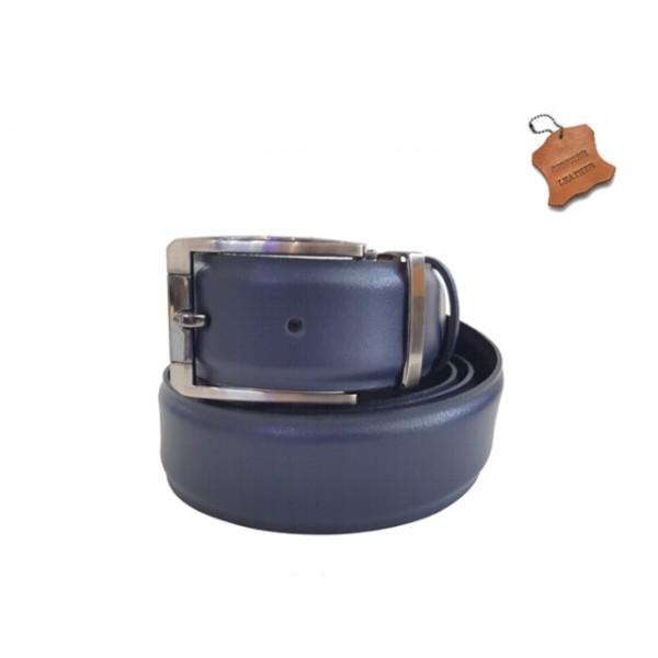 Accessories - Αξεσουάρ VIPS 120900 Μπλε Δερμάτινη Ανδρική Ζώνη